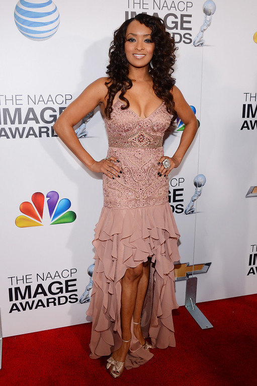 . LOS ANGELES, CA - FEBRUARY 01: Actres Jennia Fredrique attends the 44th NAACP Image Awards at The Shrine Auditorium on February 1, 2013 in Los Angeles, California.  (Photo by Mark Davis/Getty Images for NAACP Image Awards)