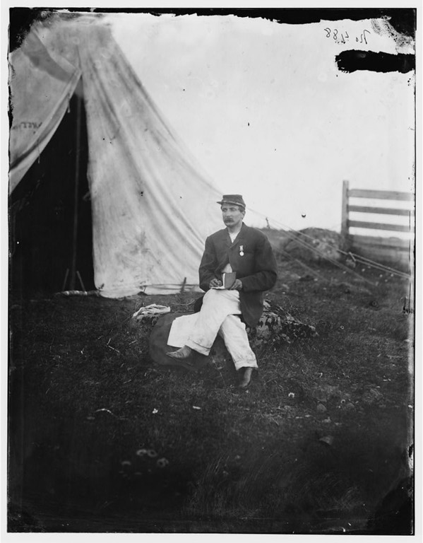 . Gettysburg, Pennsylvania. Capt. [John J] Huff\'s clerk  - Library of Congress Prints and Photographs Division Washington, D.C.