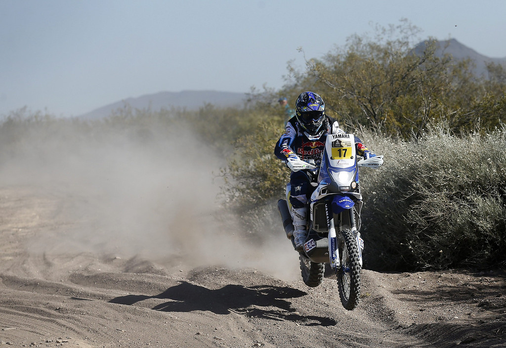 . French Michael Metge in action during the second stage of the Rally Dakar 2014 between the Argentinean localities of San Luis and San Rafael, 06 January 2014. Rally Dakar will run between 4 and 18 January across Argentina, Bolivia and Chile.  EPA/Felipe Trueba
