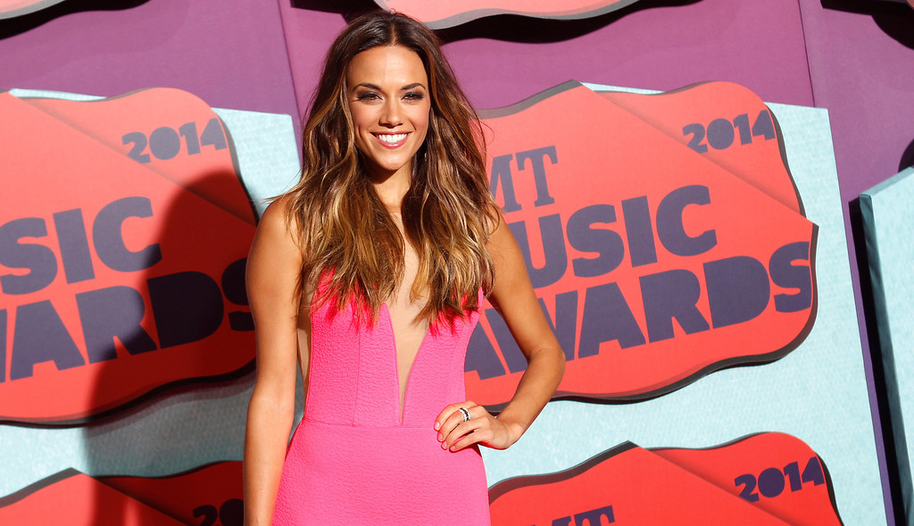 . Jana Kramer arrives at the CMT Music Awards at Bridgestone Arena on Wednesday, June 4, 2014, in Nashville, Tenn. (Photo by Wade Payne/Invision/AP)