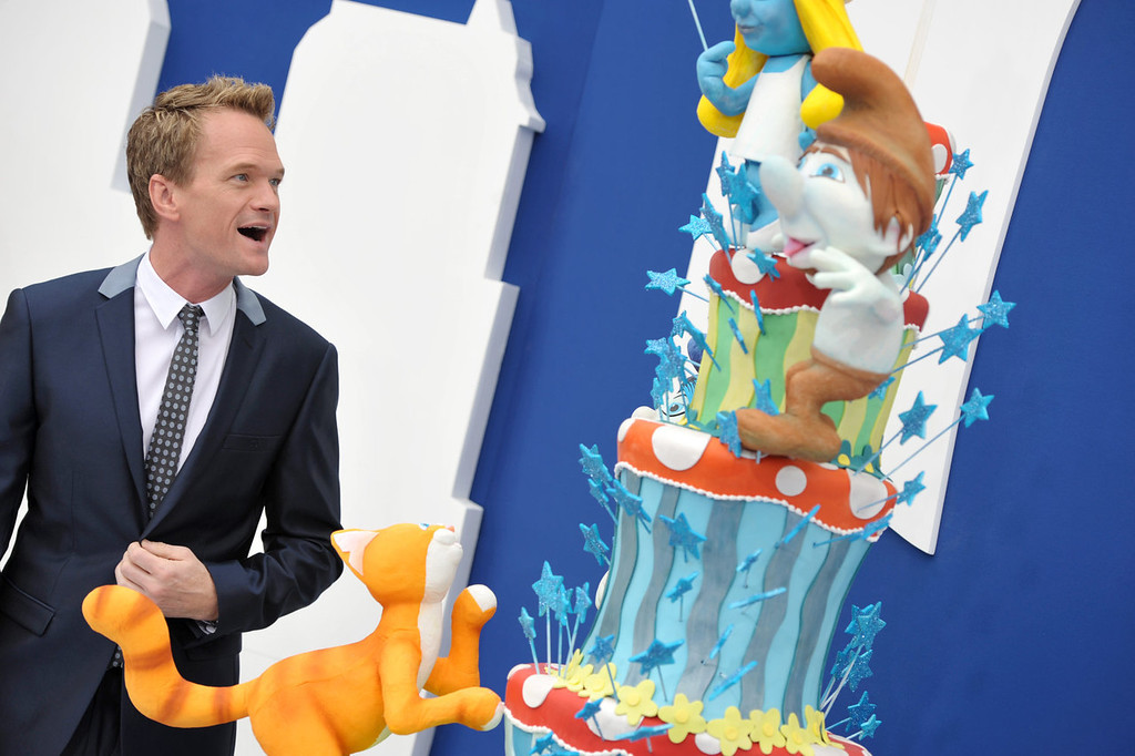 """. Actor Neil Patrick Harris arrives to the world premiere of \""""The Smurfs 2\"""" at the Regency Village Theatre on Sunday, July 28, 2013 in Los Angeles. (Photo by John Shearer/Invision/AP)"""