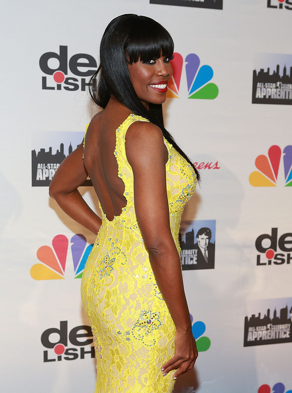 ". Omarosa attends ""All Star Celebrity Apprentice\"" Finale at Cipriani 42nd Street on May 19, 2013 in New York City.  (Photo by Robin Marchant/Getty Images)"