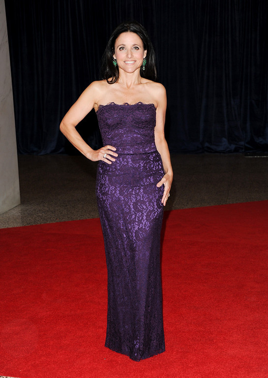 . Actress Julia Louis-Dreyfus attends the White House Correspondents\' Dinner at the Washington Hilton on Saturday April 27, 2013 in Washington. (Photo by Evan Agostini/Invision/AP)