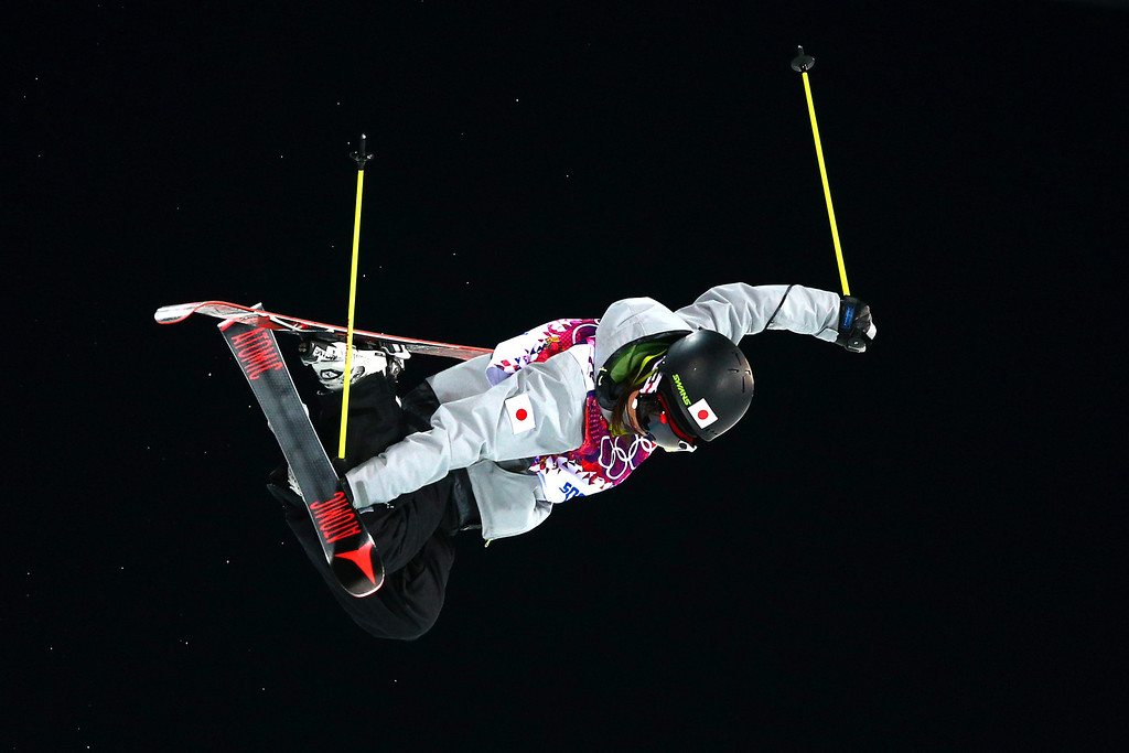 . Ayana Onozuka of Japan competes in the Freestyle Skiing Ladies\' Ski Halfpipe Qualification on day thirteen of the 2014 Winter Olympics at Rosa Khutor Extreme Park on February 20, 2014 in Sochi, Russia.  (Photo by Cameron Spencer/Getty Images)