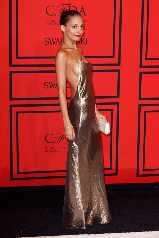 . Actress Nicole Richie arrives at the 2013 Council of Fashion Designers of America (CFDA) awards in New York June 3, 2013.  REUTERS/Lucas Jackson