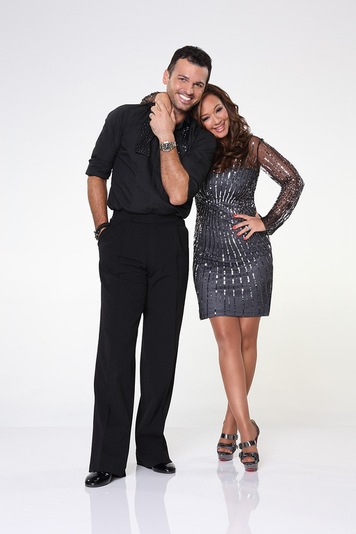 ". DANCING WITH THE STARS - TONY DOVOLANI & LEAH REMINI - Leah Remini partners with Tony Dovolani. ""Dancing with the Stars\"" returns for Season 17 on MONDAY, SEPTEMBER 16 (8:00-10:01 p.m., ET), on the ABC Television Network. (ABC/Craig Sjodin)"