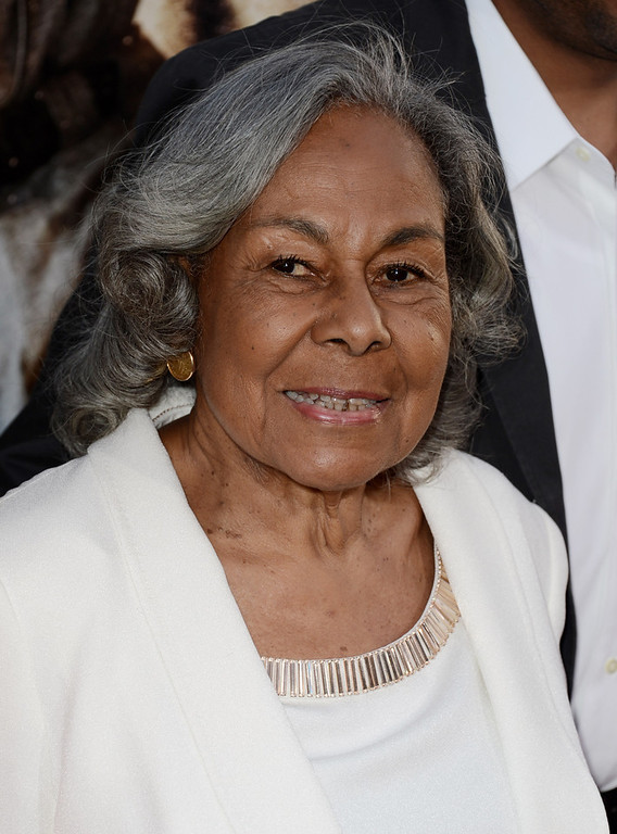 ". Rachel Robinson, Jackie Robinson\'s widow arrives at the premiere of Warner Bros. Pictures\' and Legendary Pictures\' ""42\"" at the Chinese Theatre on April 9, 2013 in Los Angeles, California.  (Photo by Kevin Winter/Getty Images)"