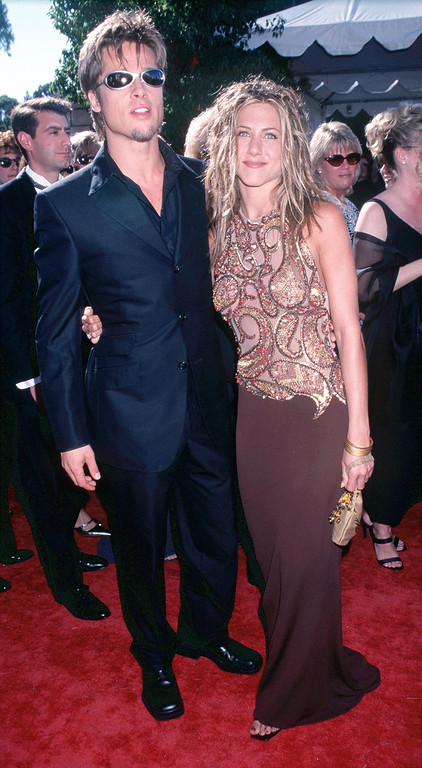 . Brad Pitt and Jennifer Aniston at the 51st Annual primetime Emmy Awards . Photo by Brenda Chase/Online USA, Inc.