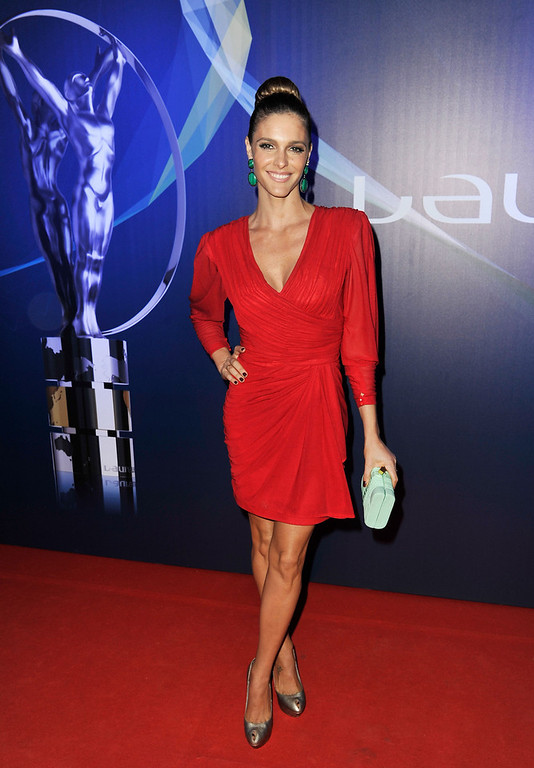 . Actress Fernanda Lima attends the 2013 Laureus World Sports Awards at the Theatro Municipal Do Rio de Janeiro on March 11, 2013 in Rio de Janeiro, Brazil.  (Photo by Gareth Cattermole/Getty Images For Laureus)