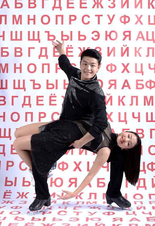 . Ice dancers Alex Shibutani and Maia Shibutan pose for a portrait during the USOC Media Summit ahead of the Sochi 2014 Winter Olympics on October 1, 2013 in Park City, Utah.  (Photo by Harry How/Getty Images)