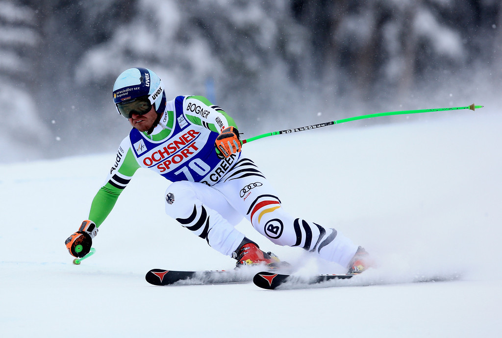 . Andreas Sander of Germany in action during the 2013 Audi FIS Beaver Creek World Cup Men\'s Super G race on December 7, 2013 in Beaver Creek, Colorado.  (Photo by Doug Pensinger/Getty Images)