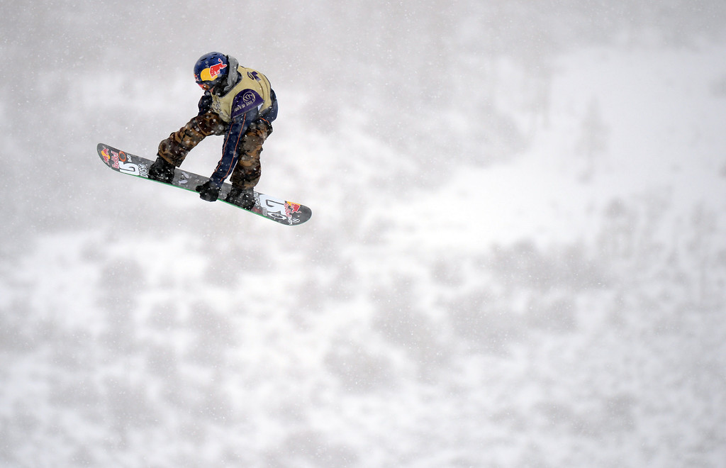 . VAIL, CO. - MARCH 1: Mark McMorris catches air during the men\'s slopestyle final of Burton U.S. Open. March 1, 2013. Vail, Colorado. McMorris finished as 1st place.(Photo By Hyoung Chang/The Denver Post)