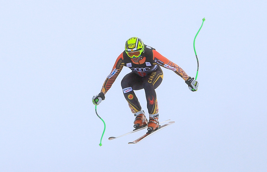. Manuel Osborne-Paradis of Canada in action during the men\'s downhill race for the Birds of Prey Audi FIS Ski World Cup on December 6, 2013 in Beaver Creek, Colorado.  (Photo by Doug Pensinger/Getty Images)