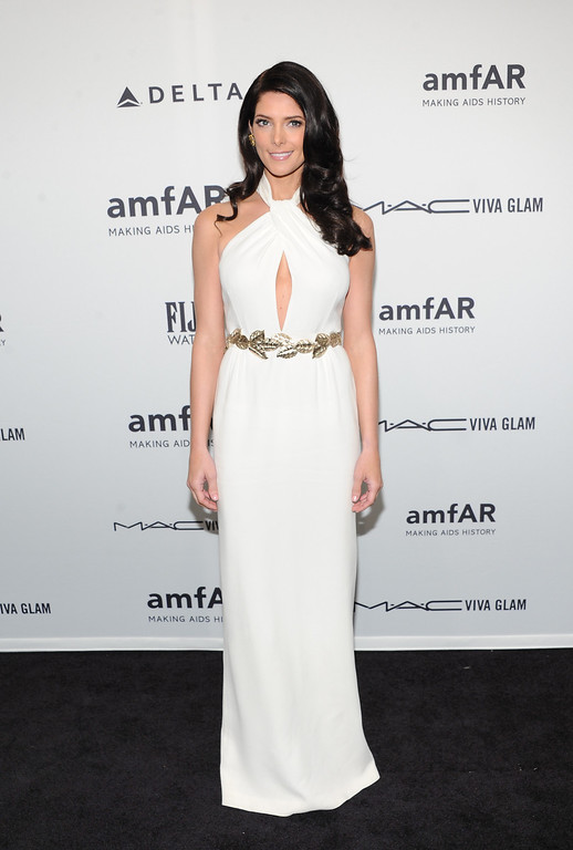 . Actress Ashley Greene attends amfAR\'s New York gala at Cipriani Wall Street on Wednesday, Feb. 6, 2013 in New York. (Photo by Evan Agostini/Invision/AP)