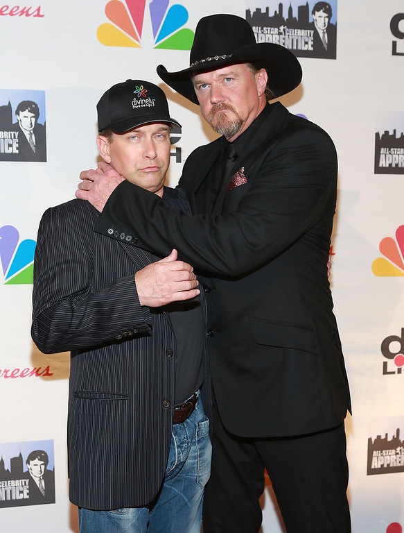". Stephen Baldwin (L) and Trace Adkins attend ""All Star Celebrity Apprentice\"" Finale at Cipriani 42nd Street on May 19, 2013 in New York City.  (Photo by Robin Marchant/Getty Images)"