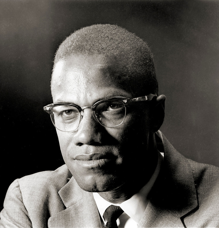 . Malcolm X, the black Muslim leader;  photographed in New York  march 5, 1964.  Born Malcolm Little, he evolved into a charismatic, but controversial black militant leader who converted to the black muslim religion, the nation of islam, while in prison. He founded the Organization of Afro American Unity. Malcolm X was shot to death at age 39 in a Harlem, New York, Ballroom 65.   (AP Photo/Eddie Adams)