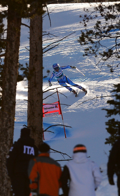 . Sweden\'s Maria Pietilae-Holmner powers her way in the first run of the women\'s giant slalom at the FIS Ski World Cup in Beaver Creek, Colorado, December 1, 2013.  EMMANUEL DUNAND/AFP/Getty Images