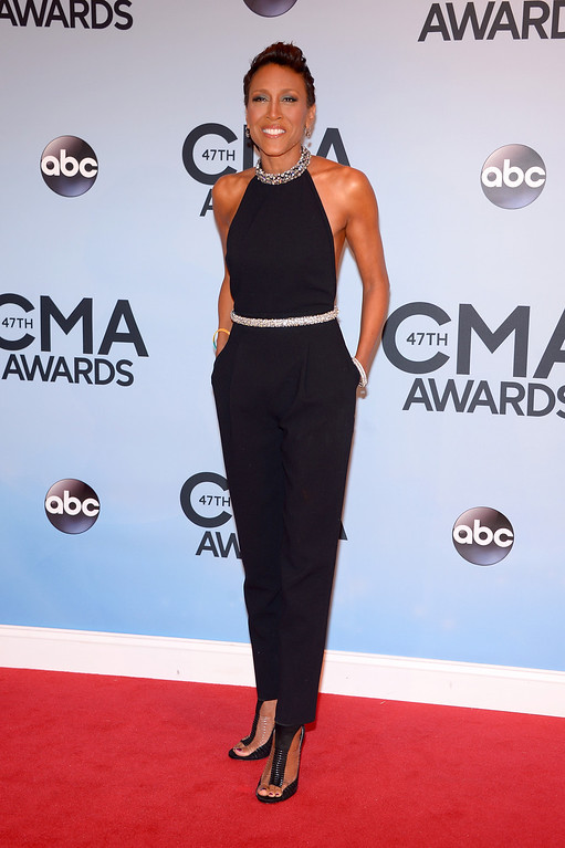 . NASHVILLE, TN - NOVEMBER 06:  Robin Roberts attends the 47th annual CMA Awards at the Bridgestone Arena on November 6, 2013 in Nashville, Tennessee.  (Photo by Michael Loccisano/Getty Images)