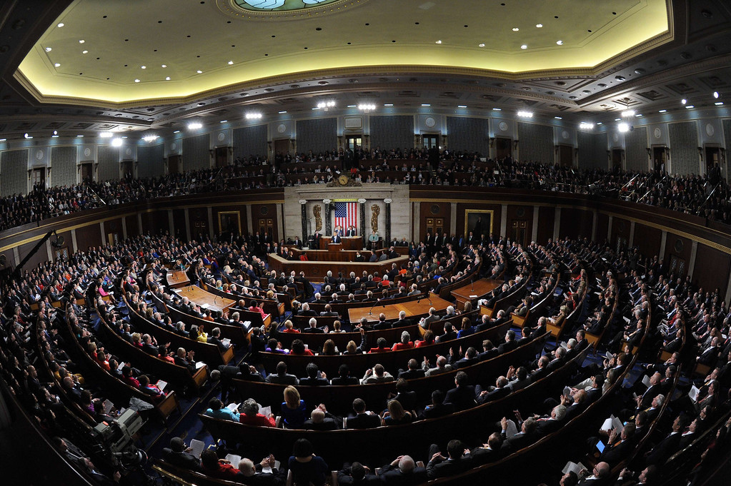 . US President Barack Obama delivers the State of the Union address before a joint session of Congress on January 28, 2014 at the US Capitol in Washington.  JEWEL SAMAD/AFP/Getty Images