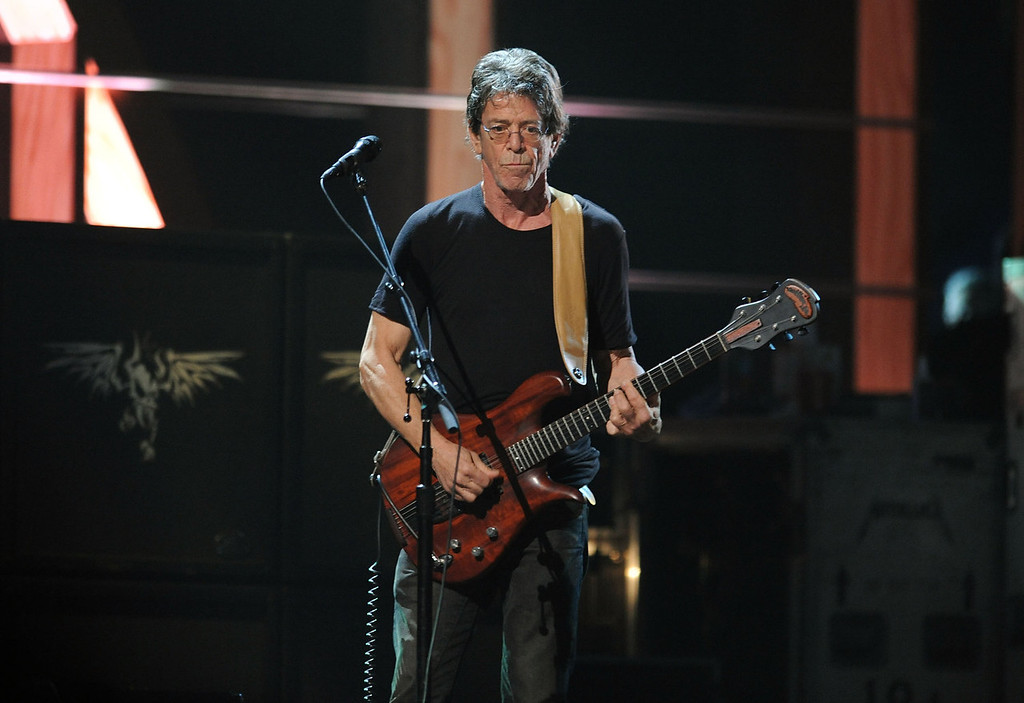 . Lou Reed performs onstage at the 25th Anniversary Rock & Roll Hall of Fame Concert at Madison Square Garden on October 30, 2009 in New York City.  (Photo by Stephen Lovekin/Getty Images)
