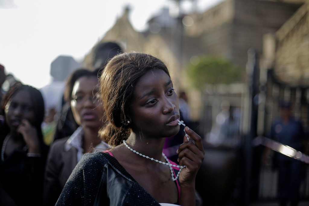 . This picture by German photographer Markus Schreiber, The Associated Press (AP) won 1st Prize in People Observed Portraits Singles category of the 57th World Press Photo Contest, it was announced by the organizers in Amsterdam, The Netherlands, 14 February 2014. It shows a woman reacting in disappointment after access to see former South Africa President Nelson Mandela was closed on the third and final days of his casket lying in state, outside Union Buildings in Pretoria, South Africa.  EPA/MARKUS SCHREIBER / AP
