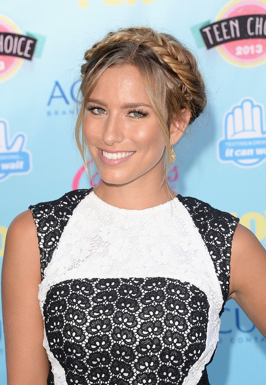 . TV personality Renee Bargh attends the Teen Choice Awards 2013 at Gibson Amphitheatre on August 11, 2013 in Universal City, California.  (Photo by Jason Merritt/Getty Images)