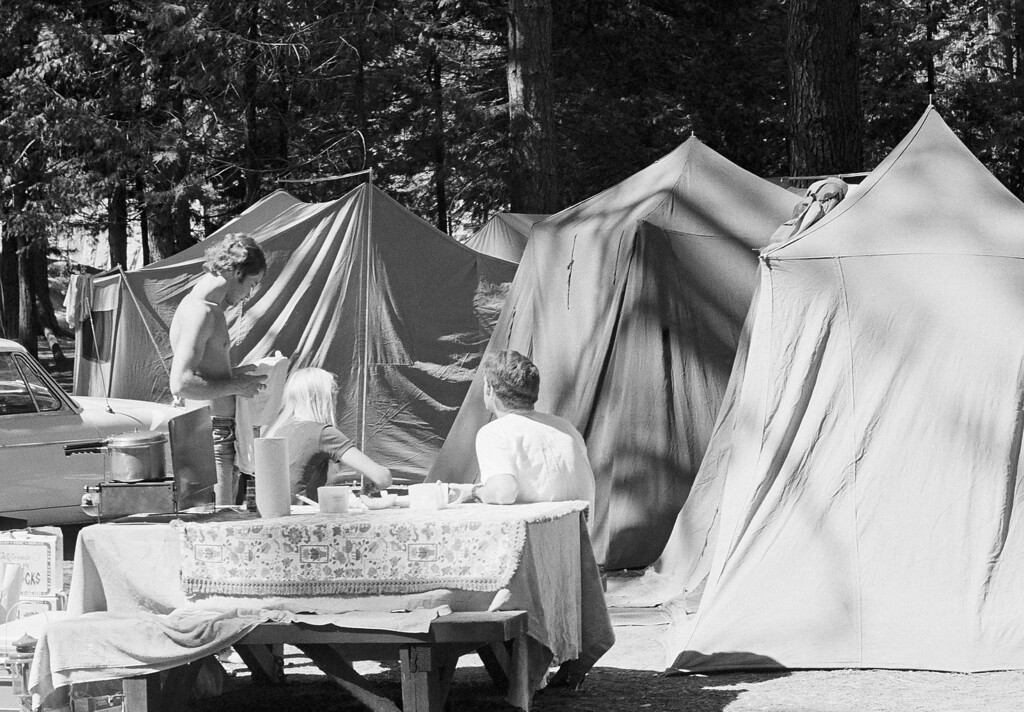 . Camping and outdoor cooking at the Yosemite National Park in California, 1972. (AP Photo/Walt Zeboski)