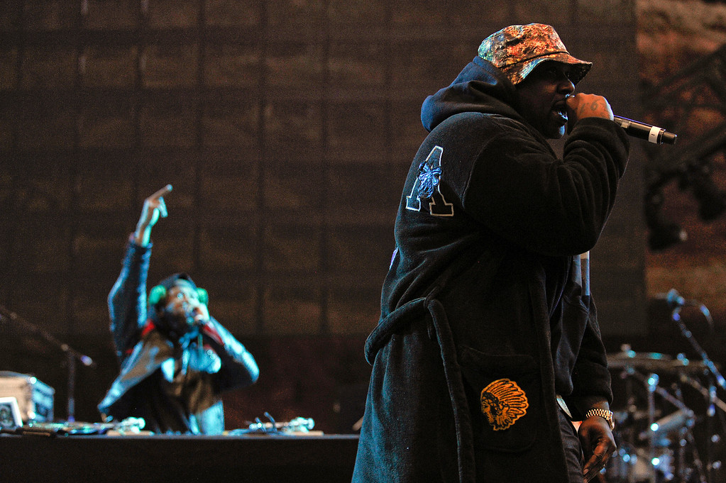 . Smoke DZA performs at Red Rocks Amphitheater as a part of the Snoop Dogg 420 Wellness Retreat in Morrison, Colorado on April 20, 2014. (Photo by Seth McConnell/The Denver Post)