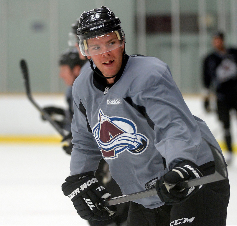 . Colorado Avalanche C Paul Stastny (26) smiles during practice September 9, 2013 at Family Sports Ice Arena. (Photo By John Leyba/The Denver Post)