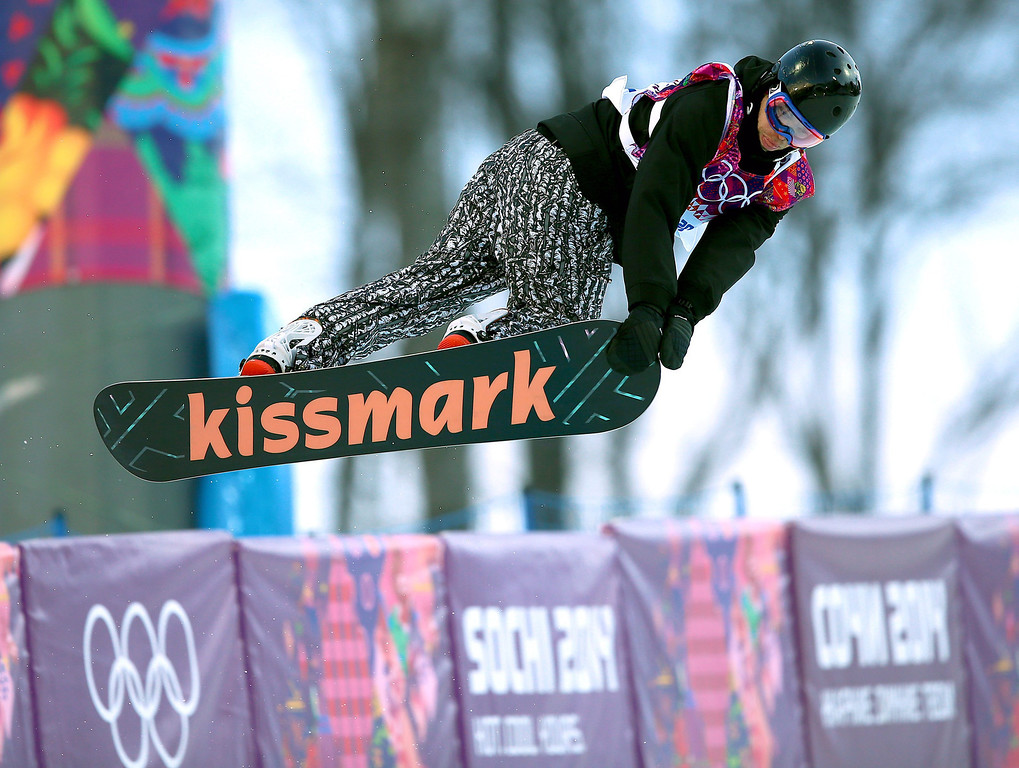 . Markus Malin of Finland in action during the Mens Snowboard Halfpipe Qualification at Rosa Khutor Extreme Park at the Sochi 2014 Olympic Games, Krasnaya Polyana, Russia, 11 February 2014.  EPA/JENS BUETTNER