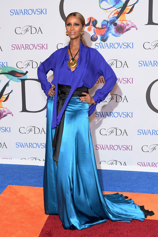 . Model Iman attends the 2014 CFDA fashion awards at Alice Tully Hall, Lincoln Center on June 2, 2014 in New York City.  (Photo by Dimitrios Kambouris/Getty Images)