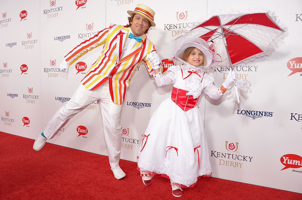 . LOUISVILLE, KY - MAY 04:  (L-R) Larry Birkhead and Dannielynn Hope Marshall Birkhead at the GREY GOOSE Red Carpet Lounge at the Kentucky Derby at Churchill Downs on May 4, 2013 in Louisville, Kentucky.