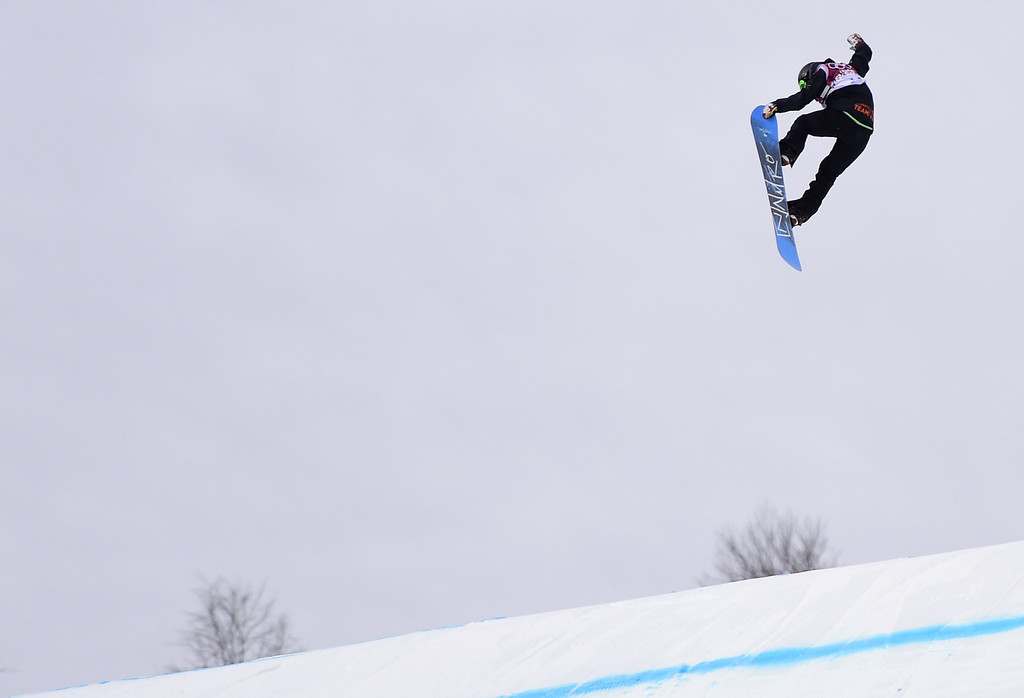 . New Zealand\'s Shelly Gotlieb competes in the Women\'s Snowboard Slopestyle Semifinals at the Rosa Khutor Extreme Park during the Sochi Winter Olympics on February 9, 2014. JAVIER SORIANO/AFP/Getty Images