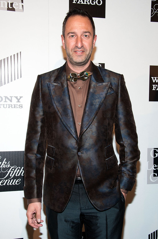 """. Christos Garkinos arrives at \""""An Evening\"""" Benefiting The L.A. Gay & Lesbian Center at the Beverly Wilshire Four Seasons Hotel on March 21, 2013 in Beverly Hills, California. (Photo by Valerie Macon/Getty Images)"""