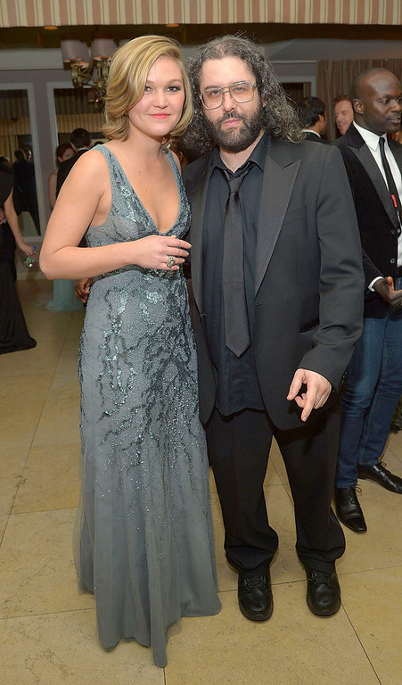 . Actress Julia Stiles (L) and actor Judah Friedlander attend The Weinstein Company\'s SAG Awards After Party Presented By FIJI Water at Sunset Tower on January 27, 2013 in West Hollywood, California.  (Photo by Charley Gallay/Getty Images for TWC)