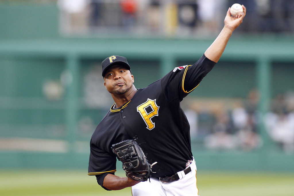 . PITTSBURGH, PA - AUGUST 03:  Francisco Liriano #47 of the Pittsburgh Pirates pitches in the first inning against the Colorado Rockies during the game on August 3, 2013 at PNC Park in Pittsburgh, Pennsylvania.  (Photo by Justin K. Aller/Getty Images)