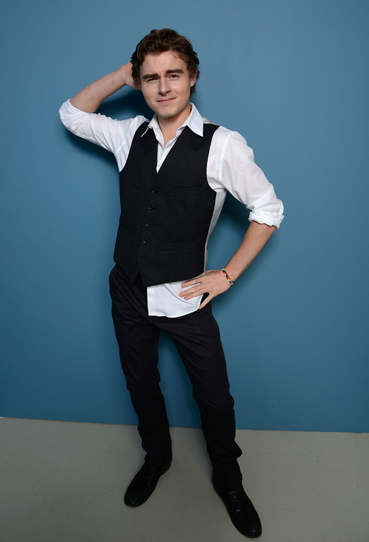 . Actor Callan McAuliffe of \'Beneath The Harvest Sky\' poses at the Guess Portrait Studio during 2013 Toronto International Film Festival on September 8, 2013 in Toronto, Canada.  (Photo by Larry Busacca/Getty Images)