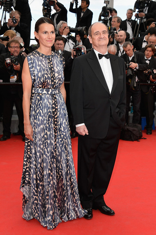 ". (L-R) French Minister of Cultural affairs Aurelie Filippetti and Pierre Lescure attend the Opening ceremony and the ""Grace of Monaco\"" Premiere during the 67th Annual Cannes Film Festival on May 14, 2014 in Cannes, France.  (Photo by Pascal Le Segretain/Getty Images)"