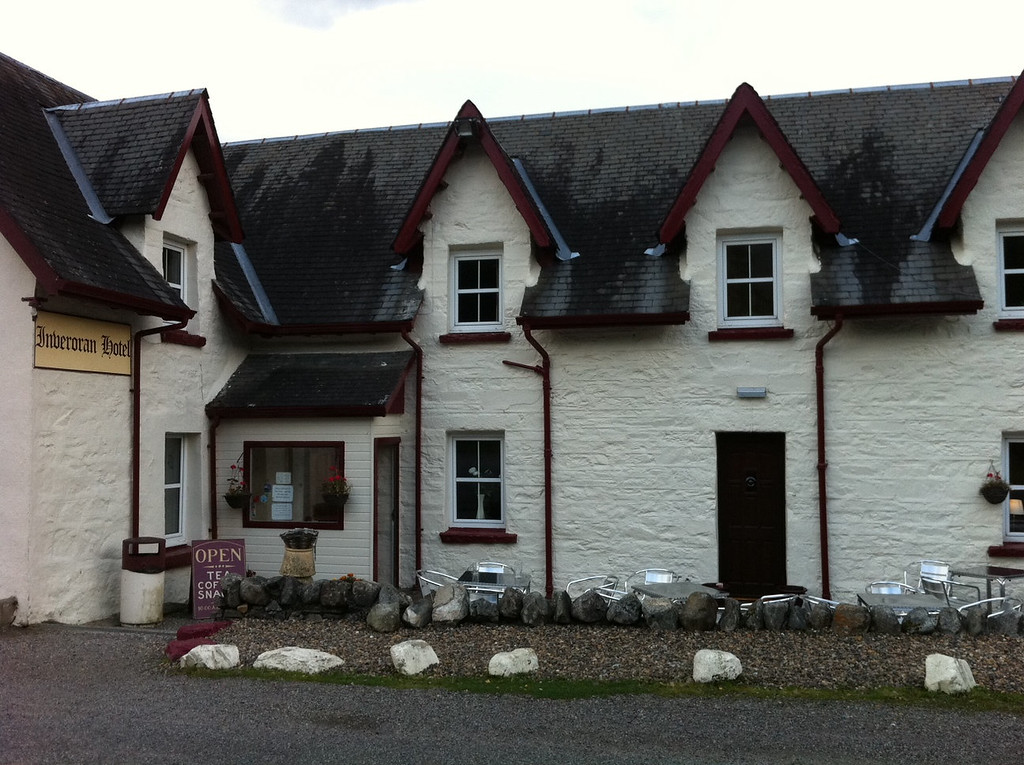 . This October 2013 photo shows the Inveroran Hotel in Inveroran, Scotland. It\'s a charming old hotel convenient as a lodging for hikers on the West Highland Way. Local fishermen who regularly dine here sometimes provide the salmon served in the restaurant. (AP Photo/Cara Anna)
