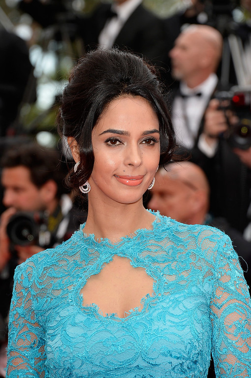 """. Mallika Sherawat attends the Opening ceremony and the \""""Grace of Monaco\"""" Premiere during the 67th Annual Cannes Film Festival on May 14, 2014 in Cannes, France.  (Photo by Pascal Le Segretain/Getty Images)"""