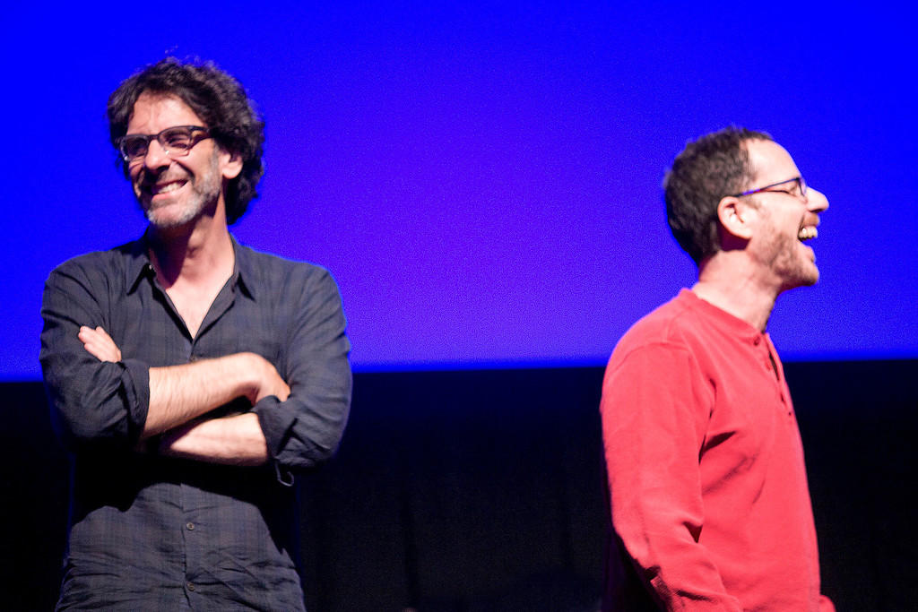 . Joel Coen, left, and brother Ethan at a Telluride tribute honoring them and musical collaborator T. Bone Burnett. Photo Pamela Gentile, Provided by Telluride Film Festival