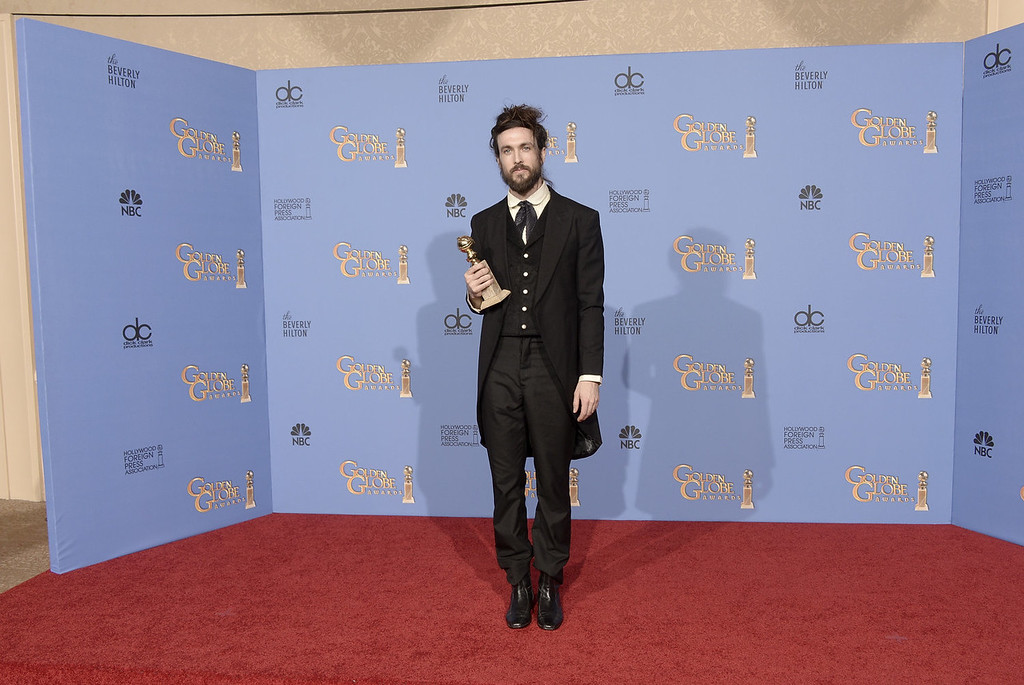 . Musician Alex Ebert, winner of Best Original Score for \'All is Lost,\' poses in the press room during the 71st Annual Golden Globe Awards held at The Beverly Hilton Hotel on January 12, 2014 in Beverly Hills, California.  (Photo by Kevin Winter/Getty Images)