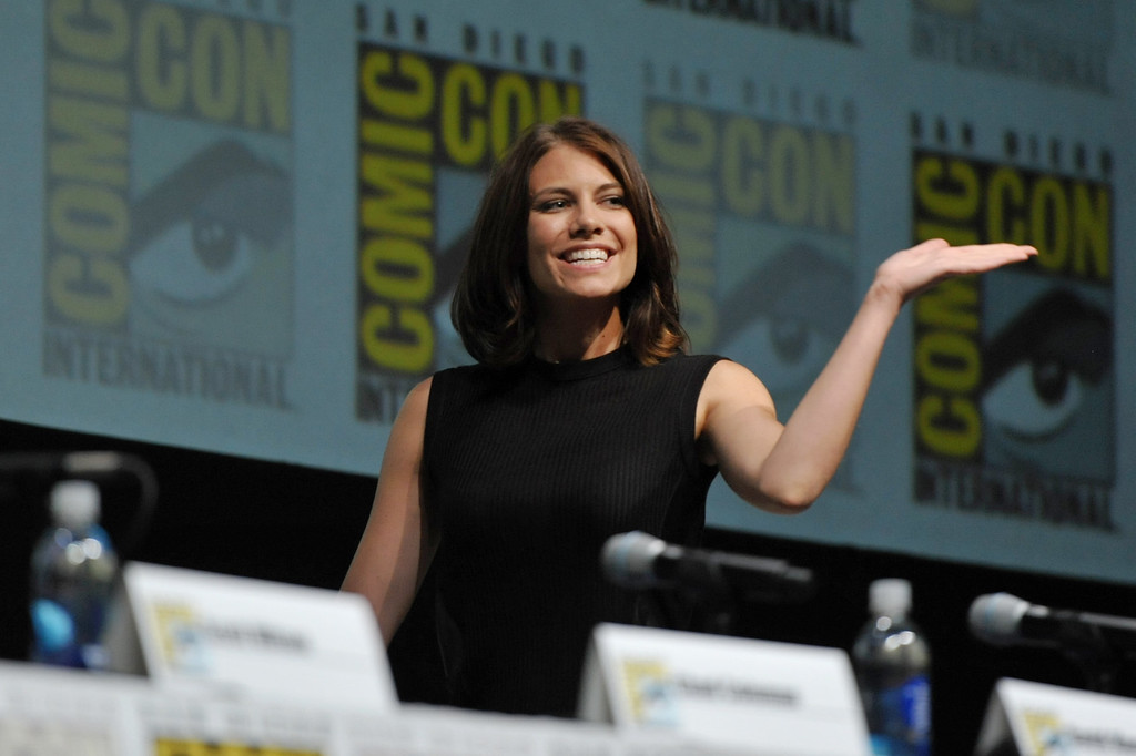 . Lauren Cohan attends AMC\'s \'The Walking Dead\' panel, on Friday, July 19, 2013 in San Diego, Calif. (Photo by John Shearer/Invision for AMC/AP Images)