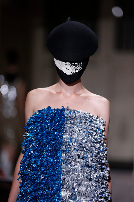 . A model presents a creation for Belgian fashion house Maison Martin Margiela as part of its Haute Couture Spring-Summer 2013 fashion show in Paris January 23, 2013. REUTERS/Benoit Tessier
