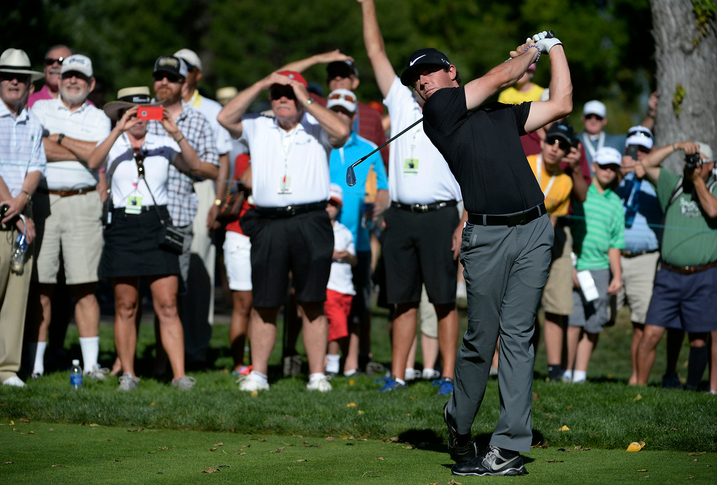 . CHERRY HILLS VILLAGE, CO. - SEPTEMBER 03:  Pro golfer, Rory McIIroy, tees off the 2nd during the FedExCup BMW Championship Pro-Am at the Cherry Hills Country Club Wednesday, September 03, 2014. (Photo By Andy Cross / The Denver Post)