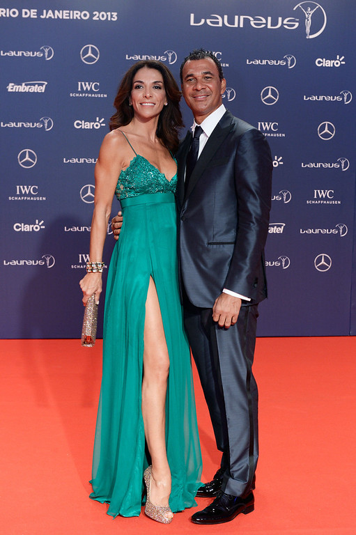 . Laureus Ambassador Ruud Gullit and guest attend the 2013 Laureus World Sports Awards at the Theatro Municipal Do Rio de Janeiro on March 11, 2013 in Rio de Janeiro, Brazil.  (Photo by Buda Mendes/Getty Images For Laureus)