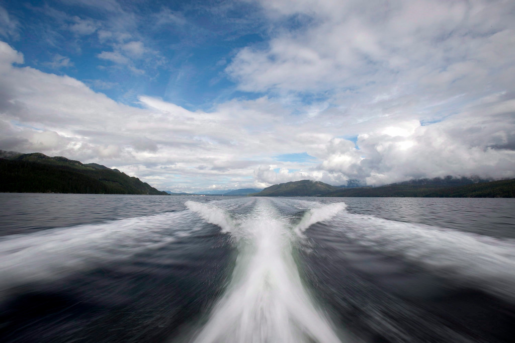 . The waters outside of Kitimat, B.C. are pictured on Sept, 17, 2013.   (AP Photo/The Canadian Press, Jonathan Hayward)