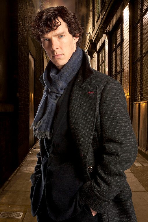 ". FILE - In this undated file publicity image released by PBS,  Benedict Cumberbatch portrays Sherlock Holmes in ""Sherlock.\"" Cumberbatch was nominated for an Emmy Award for best actor in a miniseries or movie for \""Sherlock: His Last Vow,\"" on Thursday, July 10, 2014. The 66th Primetime Emmy Awards will be presented Aug. 25 at the Nokia Theatre in Los Angeles. (AP Photo/PBS, File)"