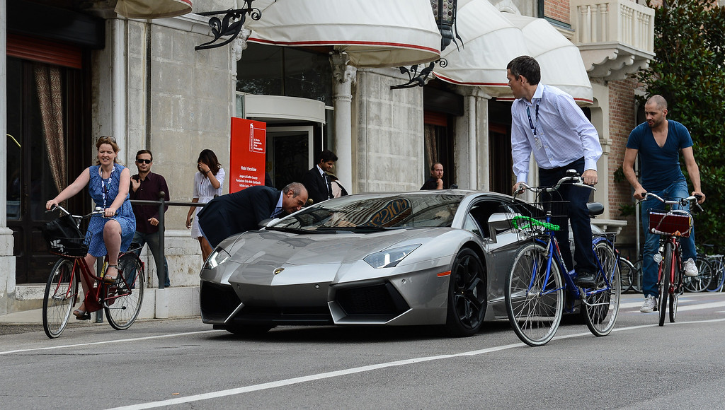 . A general view of a Lamborghini Aventador during the 69th Venice Film Festival on September 6, 2012 in Venice, Italy.  (Photo by Ian Gavan/Getty Images)