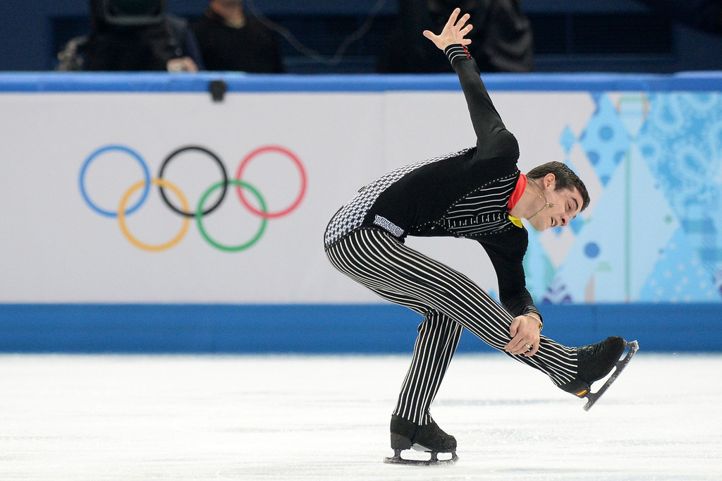 . Spain\'s Javier Fernandez performs during the Men\'s Figure Skating Short Program at the Iceberg Skating Palace during the Sochi Winter Olympics on February 13, 2014.    YURI KADOBNOV/AFP/Getty Images